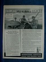 1942 WW 2 International Harvester Ad Thanks Pella IA Chronicle~ Restore ... - $8.06