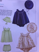 Kwik Sew Sewing Patterns 3689 Baby Infant Dress Bloomers Hat Size S-XXL New - $14.85