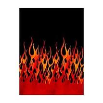 Michael Miller Fabrics Michael Miller Flames Single Border Black Fabric ... - $17.14