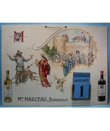Min Marceau - Bordeaux Advertising Calendar by Herouard, early 1900's - $47.52