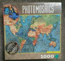Photomosaics Jigsaw Puzzle Earth 1000 Pieces With Fold-Out Poster - $9.89