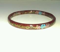 Vintage Chinese Asian Cloisonne' Enamel Bracele... - $14.85