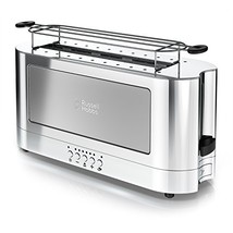 Russell Hobbs 2-Slice Glass Accent Long Toaster, Silver & Stainless Stee... - $112.56