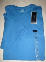 NEW MACY'S ALFANI MEN'S CREW NECK SHORT SLEEVE T-SHIRT BLUE LAKE SMALL - $7.91