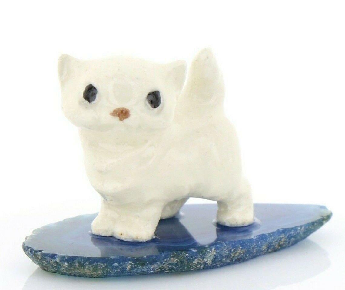 Hagen Reanker Miniature Cat Tiny Persian Kitten on Base Stepping Stones #2735