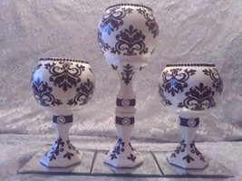 3pc. Black & White Candleholder Set - $78.09