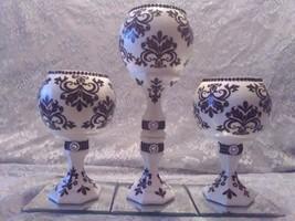 3pc. Black & White Candleholder Set - $78.09