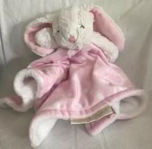Blankets & Beyond Baby Bunny Plush Pink White Polka Dot Security Blanket... - $13.99