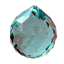 Swarovski 20mm Seafoam Green Crystal Faceted Ball Prism image 1