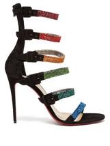 Christian Louboutin 100MM Raynibo Crystal Black Sandals New - $1,249.00