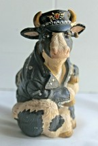 1994 Enesco Highway Holsteins Biker Cow Figurine - $33.35