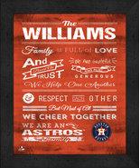 """Houston Astros """"Family Cheer"""" 13 x 16 Framed Print - $39.95"""