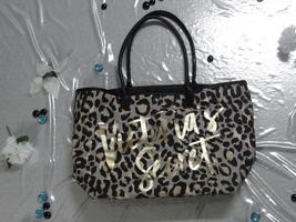Victoria Secret Canvas Cheetah Print Tote Bag - $20.00