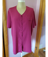 Christie & Jill Womens Pink Blouse Top Size 2X Plus Size Gals 59602 - $14.99