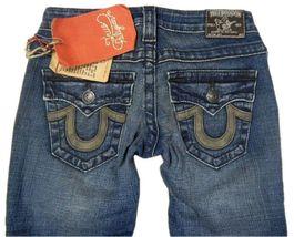 True Religion Women's Denim Jeans Joey Leather Pocket 83 - Med Savana 10503VNL image 4