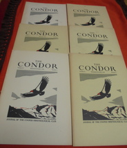 6 The Condor 1949 Cooper Ornithology Club Journal Birds illustrated - $15.00
