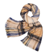 Tory Burch Womens Beige Brushed Shetland Plaid Merino Wool Long Scarf 87... - €150,99 EUR