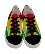 Men's Guyanese Casual Low Top Canvas Sneakers Flag of Guyana Fun Graphic... - $49.99