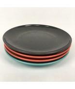 "4 VTG Mid Century 60s Branchell Melmac Turquoise Black Teal Orange 5.75""... - $19.70"