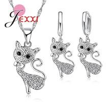 S90 Jewelry Sets Fox Crystal CZ Crystal  Pendants Birthday Wedding Party... - $9.09