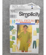 Women's 26w-32w Jumpsuit Top Vest Pants Shorts Full Figure  Simplicity 7... - $10.00