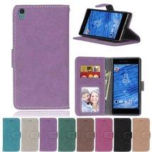 Xperia Z5 Case,XYX [Purple][Scrub Series] PU Leather Flip Folio Kickstan... - $4.94