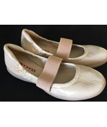 Prada Sport Mary Jane Stretch Ballet Flats Elastic Nude Loafers size 35 ... - $109.99