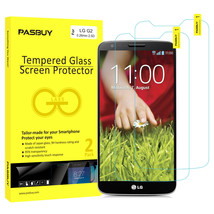 Screen Protector [2Pack PASBUY Retailbox] Tempered Glass for LG G2 - $5.53