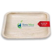 Terra Mirai Palm leaf Plates – Pack of 20, 10 Inch Square - Ecofriendly ... - $25.14