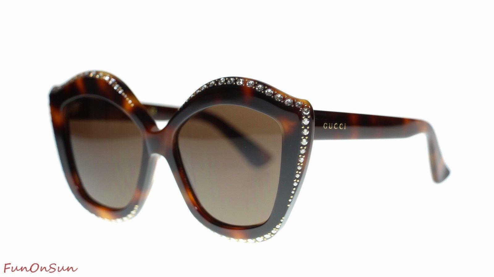 64773c4c09 10. 10. Previous. Gucci Women Designer Sunglasses GG0118S 003 Havana Brown  Lens 53mm Authentic