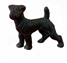 "Scottish Terrier Dog Statue, Cast Iron, Black Enamel, 2.75"" Tall, Vintage - $28.97"