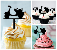 Wedding,Birthday,Cupcake topper,silhouette i love vespa Package : 10 pcs - $10.00