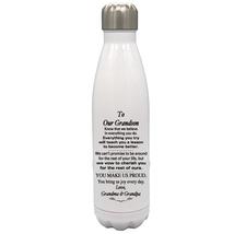 Custom 17oz Water Bottle To Our Grandson Birthday, Wedding, Christmas Gift - $34.95