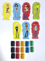 2004 Mall Madness Board Game Replacement Pieces -  7 PLAYER TOKENS & 13 ... - $7.83