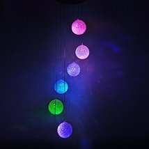 Lainin Solar Wind Spinner Color Changing Glowing Ball Wind Chime Light Mobile fo - $22.99