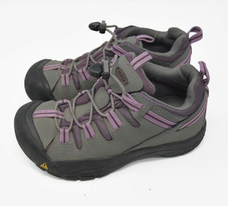 Keen Women's Sz 4 Gray Pink Bungee Strap Athletic Hiking Water Ready Trail Shoes