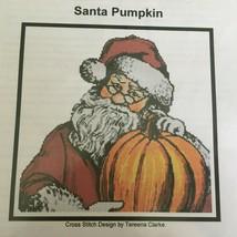 Artecy Counted Cross Stitch Pattern Santa Pumpkin Tereena Clarke Christmas - $13.50