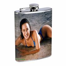 Hawaiian Girls D8 Flask 8oz Stainless Steel Hip Drinking Whiskey - $12.82