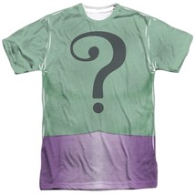 Batman Classic TV Show Riddler Costume Outfit Uniform Allover Front T-shirt top - $26.99+
