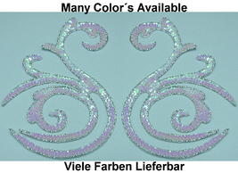 pair appliques sequins applikationen pailletten sew on embroidery handmade ap50 - $9.99