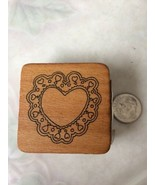 Heart Doily Rubber Stamp Comotion Retired 9998 Special Stamps 009337099985 - $7.69