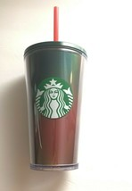Starbucks 2019 Winter Holidays Holographic Red/Green Tumbler 16oz New - $24.40