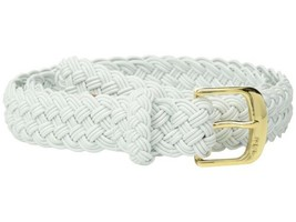 Lauren Ralph Lauren Woven Stretch Belt (White/Gold, L) - $38.00