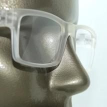 Reading Glasses TV News Reporter Bold Square White Frost Frame +2.00 Lens Power - $21.00