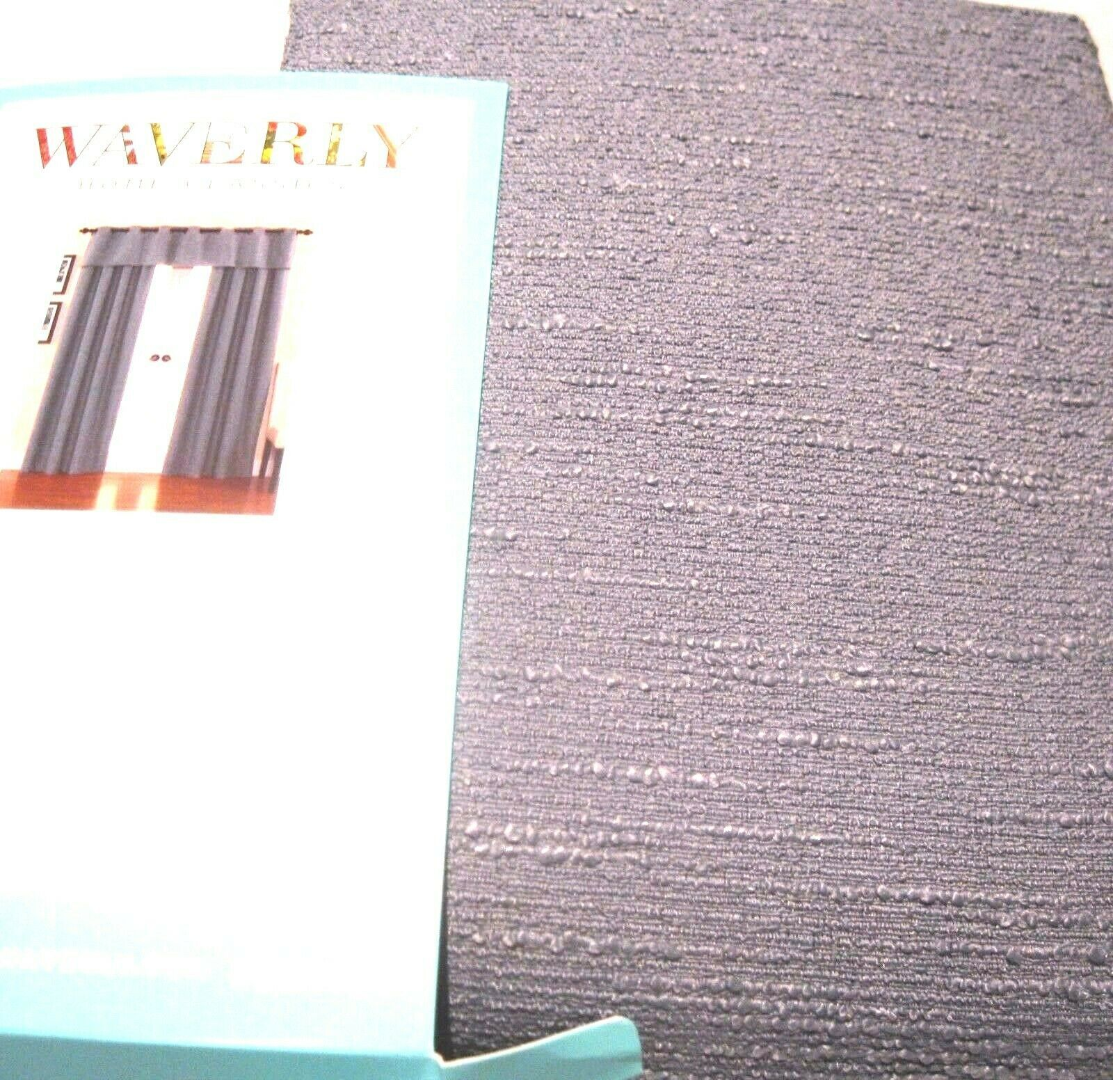 Primary image for Waverly CIRRUS Drape Curtain WEDGEWOOD BLUE Rod Pocket Panel w/ tieback 84L NIP