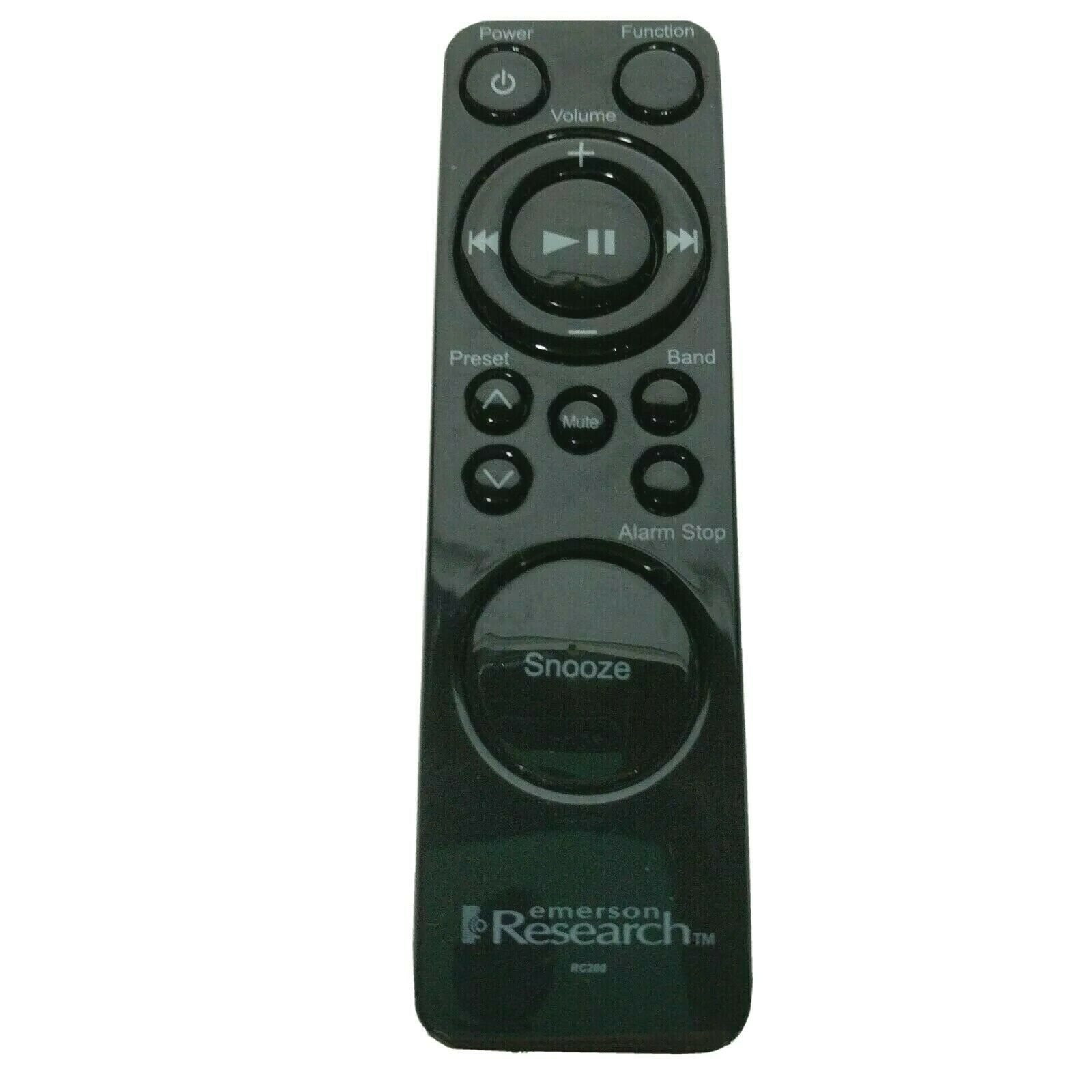 Genuine Emerson Research Alarm Clock Remote Control RC200 Tested Works - $14.54