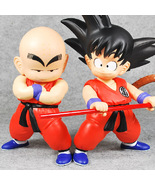 2Pcs Dragon Ball Z Cute Youth Son Goku Krillin Piccolo Figure Collection... - $24.00