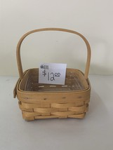 2001 Longaberger Taragon Basket with plastic liner - $10.00