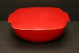 1 1/2 Qt Lid Vintage Corning Pyrex Autumn Red Hostess Oven Table Ware 1953 Rare - $126.22
