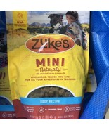 Zuke's Mini Naturals Dog Treats Beef 16oz Made In The USA NEW Factory Se... - $18.69